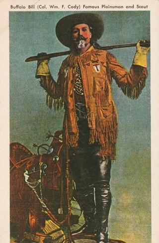 Vintage Unused Postcard: Buffalo Bill Cody