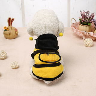 New Yelow Bee Pet Dog Coat Apperal Puppy Fleece Overcoat Hoodies Party Clothes