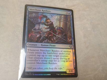 Magic the gathering mtg Merchant raiders foil Commander Legends