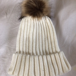 Beautiful Knitted Hat with Pompom. #01