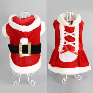 Puppy Small Dog Chihuahua Coat Xmas Santa Claus Hoodies Clothes Cat Costume