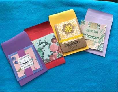 Homemade Thank You Cards with Envelopes