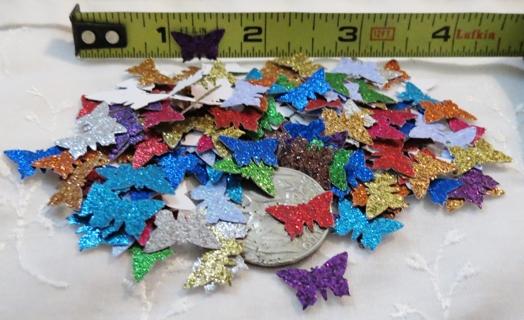 Teeny Tiny Glittery Cardstock Butterflies Mix 150