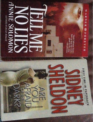 TWO BOOKS! Tell Me No Lies by Annie Sullivan. And Are You Afraid Of The Dark by Sidney Sheldon.