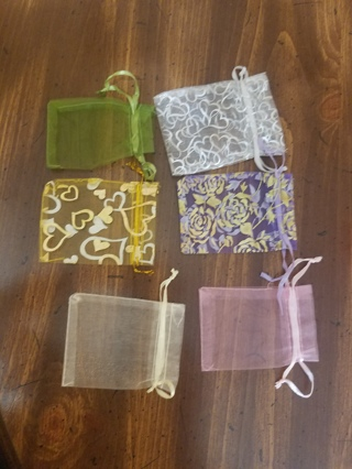 draw string reusable bags.