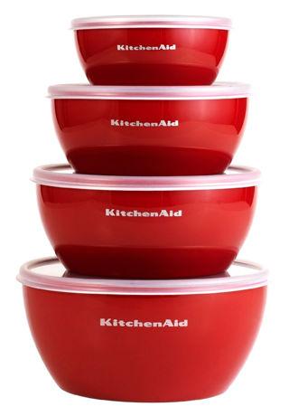 Set of 4 KitchenAid Prep Bowls w/ Lids