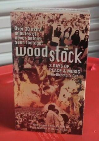 Vintage WOODSTOCK-2 Movie Set VHS Groovy!