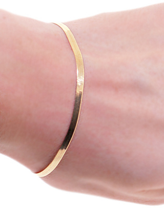 10k Solid Yellow Gold Herringbone Bracelet