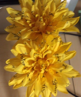 Yellow Dahlia Clip on Flowers