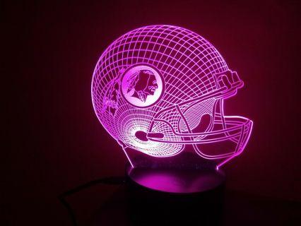 Washington Redskins 3D Multi Color Lamp (Collectors Item)