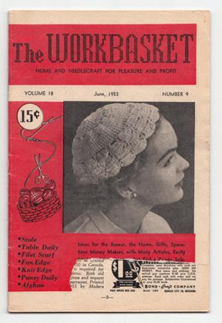 Free Old Vintage Workbasket Magazine June 1953 Knit Crochet Craft