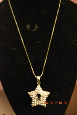 ****BEAUTIFUL NECKLACE WITH STAR CHARM***FREE SHIPPING