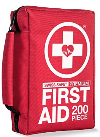 Compact First Aid Kit (200-Piece) : Lightweight for Camping w/ Emergency Survival Gear