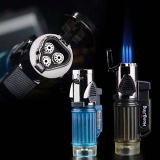 Portable Triple Torch Jet Flame Refillable Butane Gas Cigar Cigarette Lighter QH