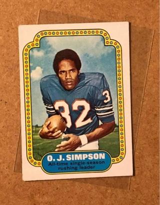 1974 Topps OJ Simpson Record Breaker