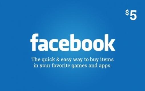 Facebook $5 Game eCard