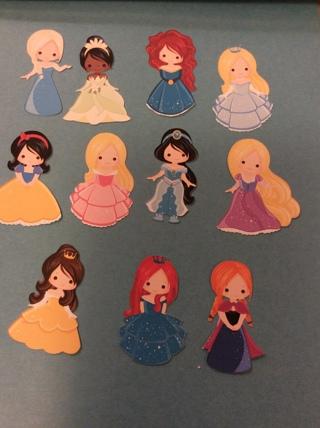 11 Princesses Clipart Print N Cut / FREE SHIPPING