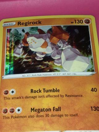 Vivid Voltage Rare Holo Regirock Pokemon Card NM-MINT
