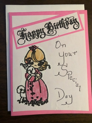 Nice Handmade Precious Moment Birthday Card