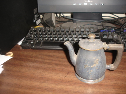 pewter teapot,1749, colonial era.