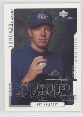 ROY HALLADAY 2000 UPPER DECK MVP SILVER FACSIMILE SIGNATURE PARALLEL TRADING CARD TORONTO BLUE JAYS