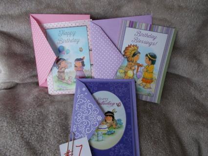 #7 Birthday Cards w/Ev