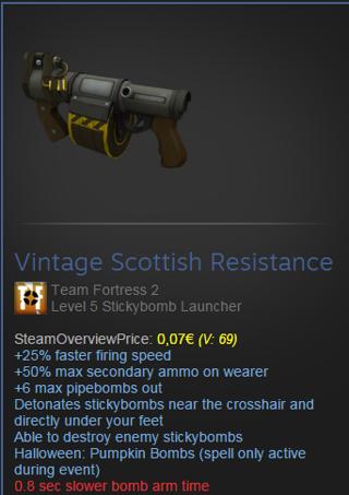 Free: Vintage Scottish Resistance Team Fortress 2 Level 5 ...