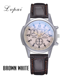 Lvpai Brand Men Sports Watch Luxury Leather Strap Dress Creative Quartz Watch