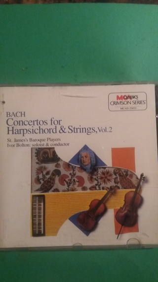 cd bach  concertos for harpsicord & strings vol. 2  free shipping