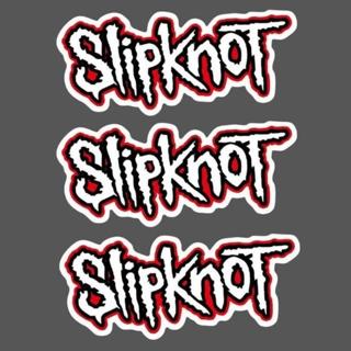 (3) SLIPKNOT BAND STICKERS LOT METAL PUNK FREE SHIPPING