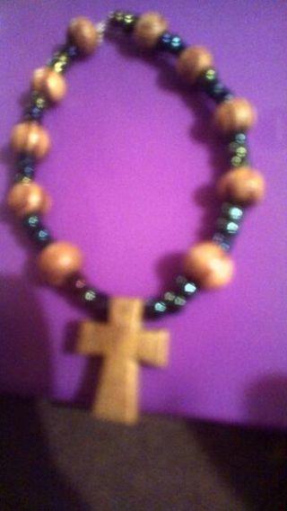 Handmade children's cross bracelet