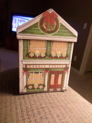 Free Cardboard Gift Box Shaped Like A House Is A Candle