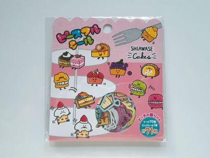 "Mind Wave ""Shiawase Cakes"" Sticker Sack ~ *Last One, Available!!* ☆Kawaii Bonus☆"