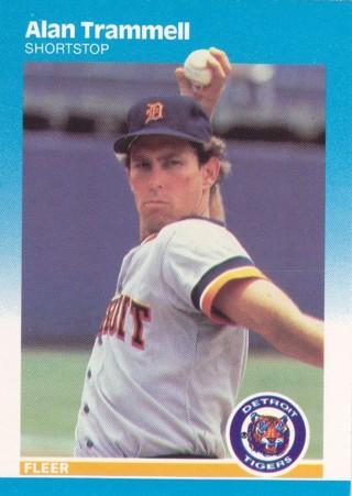 Alan Trammell 1987 Fleer Detroit Tigers