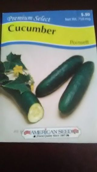 DON'S DAILY DEAL. CUCUMBER. POINSETT SEED.