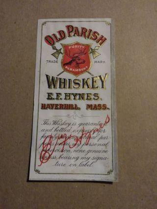 Whiskey Label Vintage (#10)