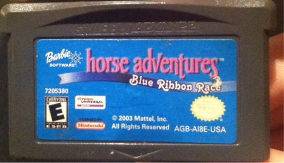 Barbie Horse adventures Blue Ribbon Race Game Boy Advanced Game