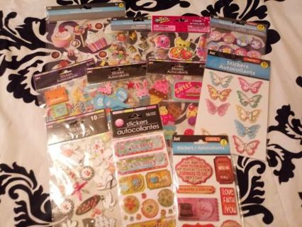 *** 11 Packs of Stickers ***Read Description