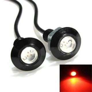 2pcs 3W 12V Red LED Eagle Eye Light Lamp Daytime Running DRL Tail Backup Bulb