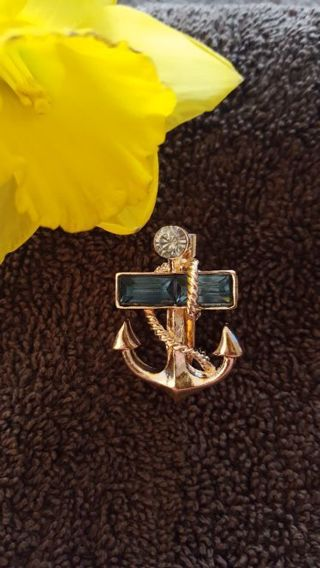 a beautiful military graduation anchors chest pin