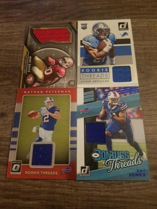 20 NFL jersey card lot! Many rookies. One serial #'d.