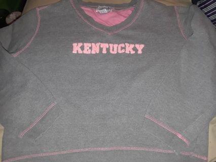 Womens clothing fan grey pink medium large sweatshirt kentucky wildcat free shipping