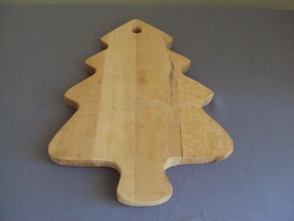 Christmas Tree Cutting Board Wood Wooden