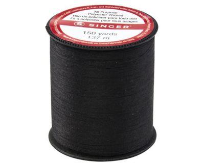 SINGER60110All Purpose Polyester Thread, 150 yards, Black