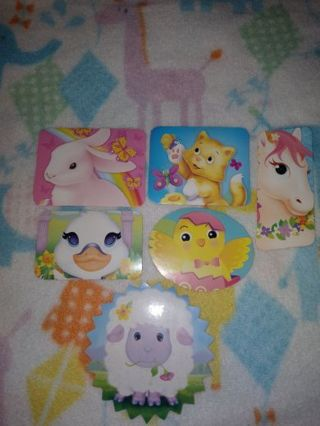 ❤✨❤✨❤️6 BRAND NEW LARGE ASSORTED ANIMAL STICKERS❤✨❤✨❤#1