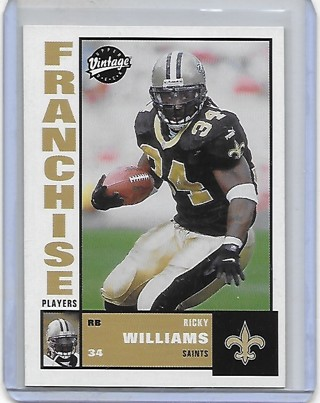 Ricky Williams 2001 Vintage Franchise Players #FP2