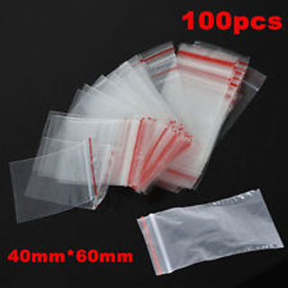100PCS 4X6cm Ziplock Zipped Lock Reclose Plastic Clear OPP Bags New gram baggies