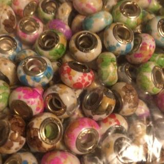 Euro Style Large Beads Assortment Set #16 watercolors