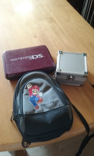 TWO NINTENDO DS CASES & SILVER BOX