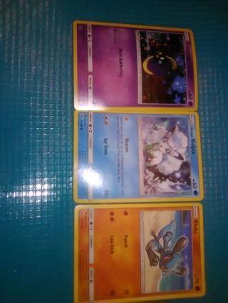 3 2017 Pokemon trading cards